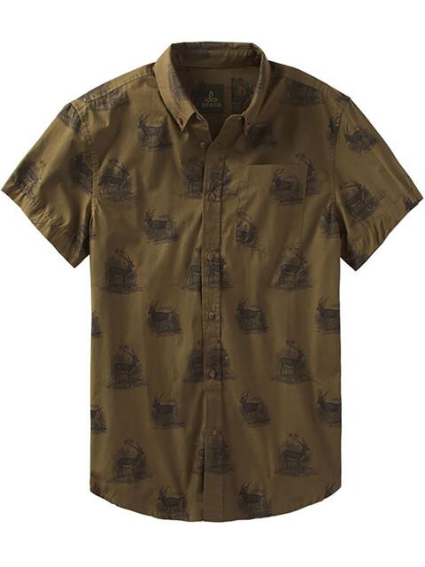 Prana M's Broderick Slim SS Shirt Hazel